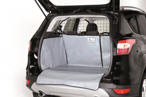 Starliner grey car boot tray for Dacia Duster 4x2 with front drive, Facelift built 2014, image similar